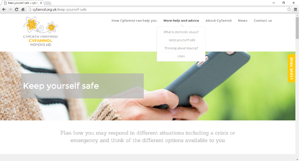 Cyfannol Women's Aid delighted with new responsive website design