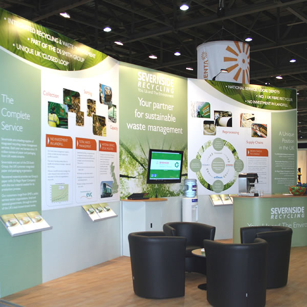 Exhibition Stand Poster Design : Bespoke exhibition stand for severnside recycling excel london